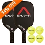 The Swift 2.0 Bundle includes two paddles and four balls.