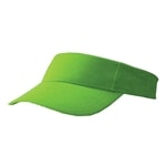 Essential Visor, plain visor in navy, lime, or white