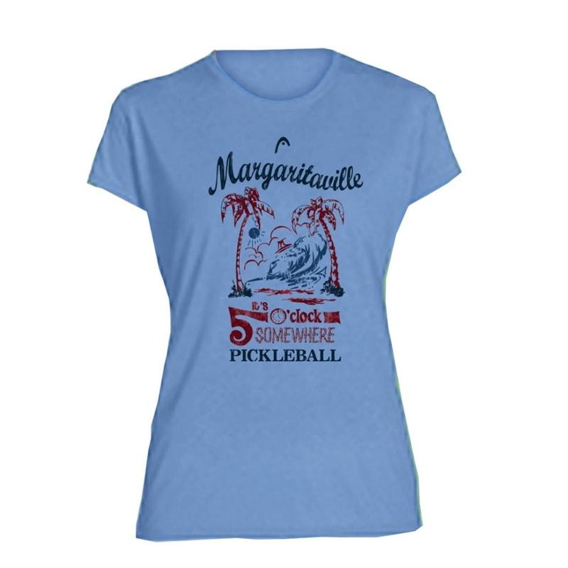 6c9e6bc6 Margaritaville 'It's 5 O'Clock Somewhere' Performance Pickleball Tee-Women's