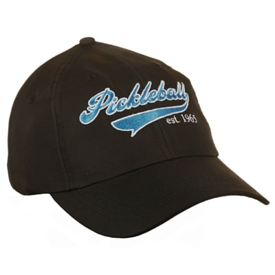 Heritage Cap with embroidered pickleball logo, black, khaki, pink, white