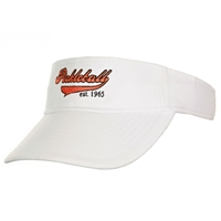 Heritage Visor with embroidered pickleball logo, White visor with embroidery in orange, purple, yellow, red, navy, or pink