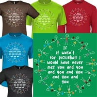 Circle of Friends pickleball shirt