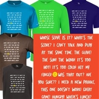 Pickleball-related talk and phrases shirt