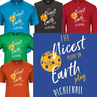 Nicest People Play Pickleball Shirt