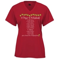 Womens 12 Days of Pickleball Shirt