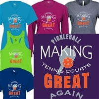 Pickleball - Make Tennis Courts Great Shirt