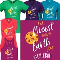 The nicest people on earth play pickleball shirt