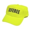 Neon yellow performance hat featuring Referee printed across the center in black, all capital letters.