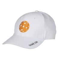 Game On Hat embroidered with our favorite slogan and an orange pickleball.