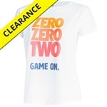 Zero Zero Two, Game On shirt for Women, available in sizes S-2XL.