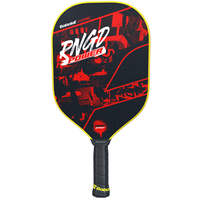 The Babolat RNGD Pickleball Paddle is called the Renegade by players, with polypropylene core and fiberglass face, choose from touch or power models.