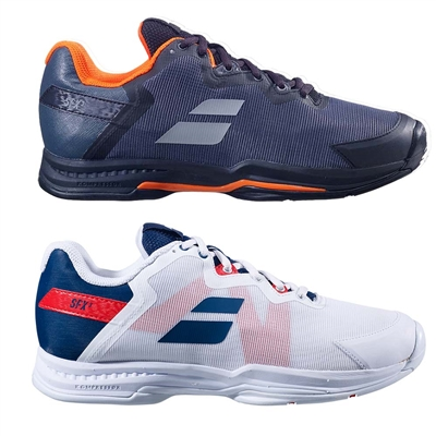 SFX3 Shoe by Babolat for Men in white/estate blue sizes 7-13