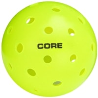The CORE Neon Green Outdoor Pickleball is approved for tournament play by USA Pickleball.