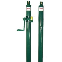 Wilson Heavy-Duty Net posts are designed for permanent court installation, choose from black or green steel posts