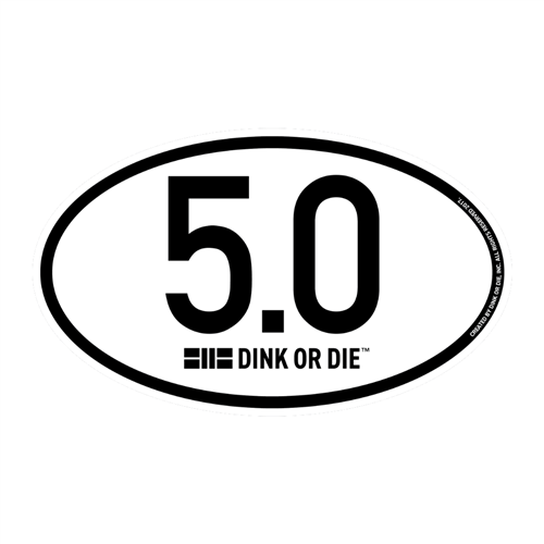 Pickleball Rating Decal - choose from 3.5,4.0,4.5 or 5.0 decals.