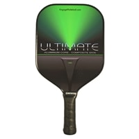 The Ultimate aluminum core paddle is available in red, blue, purple or pink.