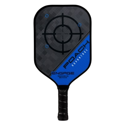 The Poach Advantage paddle by EngagePickleball-choose from two weights and four colors.