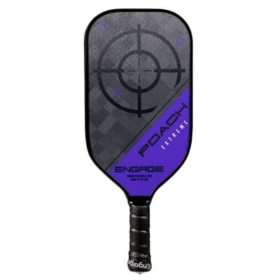 The Poach Extreme paddle by EngagePickleball-choose from two weights and five colors.