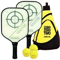 Engage Encore Composite Bundle w/Bag- includes two paddles, 3 outdoor balls and bag.