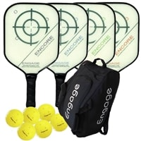 Engage Encore Composite Bundle w/Bag- includes four paddles, 6 outdoor balls and Touring backpack.