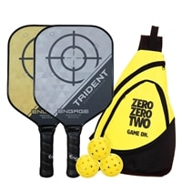 Engage Trident Bundle w/Bag- includes two paddles, 3 outdoor balls and bag.