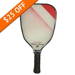 The Encore Teardrop Composite paddle by EngagePickleball-choose from blue, red or purple