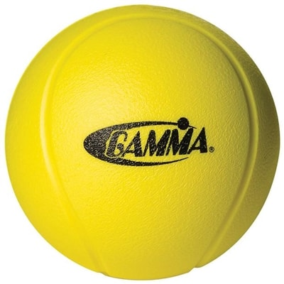 Foam Quiet Ball pickleball by Gamma is a yellow foam ball for quieter play.