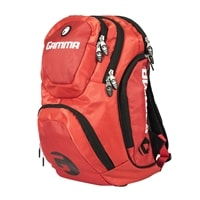 The GAMMA Pickleball Backpack features a large center compartment and several small zippered pockets.