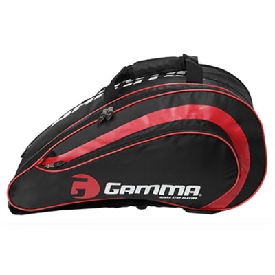GAMMA Pickleball Paddle Bag features four zipper compartments, backpack straps or carry handles.
