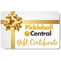 Pickleball Gift Certificate, choose from email delivery of e-certificate or mailing a paper certificate