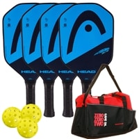 HEAD Extreme Elite Bundle w/Backpack- includes four paddles, 3 outdoor balls and backpack.