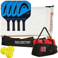 HEAD Extreme Elite Deluxe Set- includes four paddles, 3 outdoor balls, net, backpack, and rulebook.