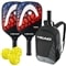 HEAD Radical Tour Bundle w/Backpack- includes two paddles, 3 outdoor balls and backpack.