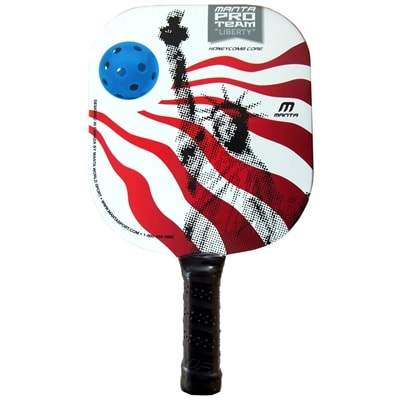 "Liberty Pro Team Paddle - striking red, white and blue design featuring ""Lady Liberty"""