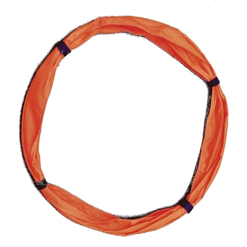 Target rings can be used on the court surface or attached to the net.