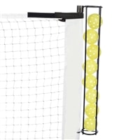 Fits easily on the end post of most portable net systems-holds 8 pickleballs