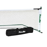 PickleNet Portable Pickleball Net System-New and improved design-Oval posts and improved net support rod. Includes carrying bag.