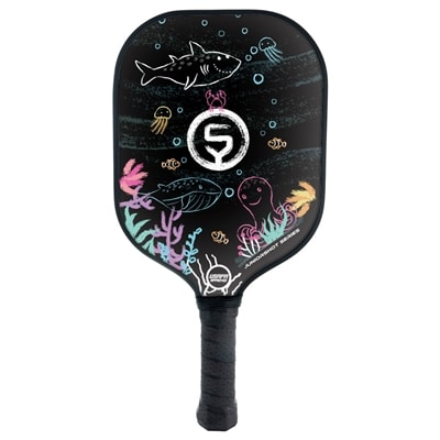 OneShot Pickleball JuniorShot Series Paddle with a chalkboard face, available for Toddlers and Children.