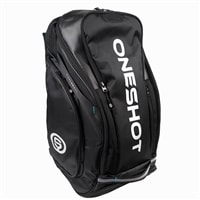The OneShot Pro Bag offers multiple compartments, including a ventilated compartment for clothing or shoes.