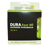 4-Pack Dura Outdoor balls in neon and yellow