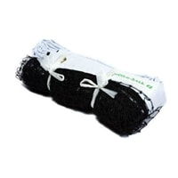 Pickleball Net for Indoor use, black mesh netting with white headband, easily ties to existing standards.