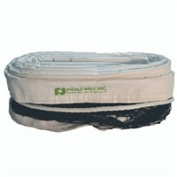 Pickleball Net for Outdoor use, durable dark brown net easily ties to your permanent posts