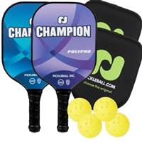 Champion PolyPro Bundle includes two paddles, two covers and four balls.