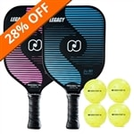 The Legacy Bundle includes two paddles and four balls.