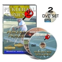 Percentage Pickleball 2-DVD Set by Coach Mo, set covers topics including return of serve, ground stroke tips, split step
