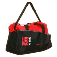 Duffle is available in three colors, features adjustable shoulder strap and handles