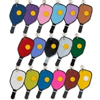 Pickleball Earrings handcrafted from leather, choose from several color options