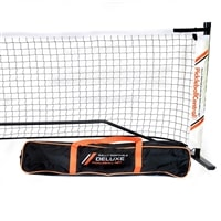 Regulation size portable net with carry bag and ball holder, exclusively from Pickleball Central!