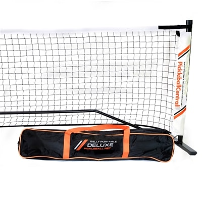 Regulation size portable net with carry bag and optional ball holder, exclusively from Pickleball Central!