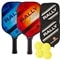 The Rally Flare Graphite Bundle includes two paddles, four balls and two paddle covers.